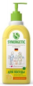 Средство концентрированное для мытья посуды и фруктов Лимон дозатор 500мл Synergetic
