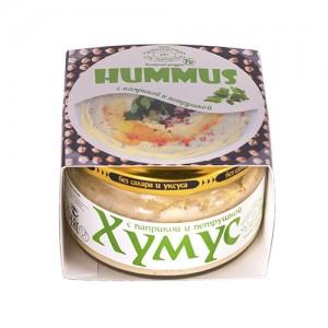 Хумус с паприкой и петрушкой ст/б 200г Полезные продукты