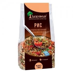 Рис бурый с машем и овощами по-восточному 250г Здороведа