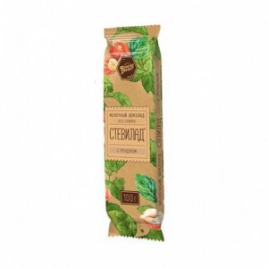 Шоколад молочный Фундук на стевии 100г Стевилад