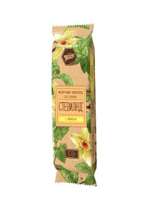 Шоколад молочный Ваниль на стевии 50г Стевилад