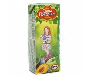 Сок яблоко/слива 200мл Сады Придонья