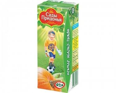 Сок яблоко/тыква с мякотью 200мл Сады Придонья