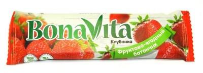 Батончик фруктово-ягодный Клубника 40г Bona Vita