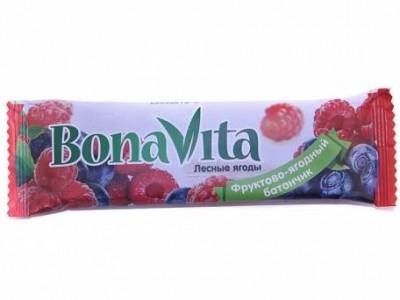 Батончик фруктово-ягодный Лесные ягоды 40г Bona Vita