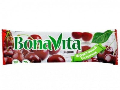 Батончик фруктовый Вишня 40г Bona Vita