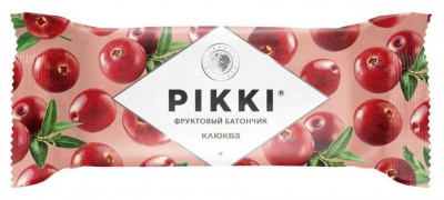 Батончик мягкий фруктовый Клюква-Яблоко 25г Pikki