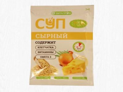 Суп сухой Сырный 1саше 20г Золотой лён