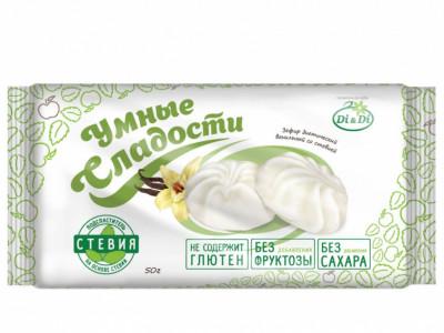 Зефир ванильный со стевией 50г Умные Сладости