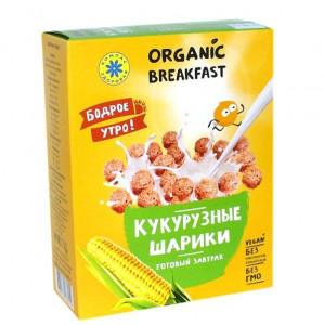 Завтраки сухие Кукурузные шарики 100г Компас здоровья