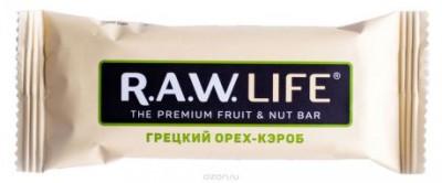 Батончик орехово-фруктовый Грецкий-Кероб 47г R.A.W Life