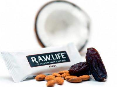 Батончик орехово-фруктовый Кокос 47г R.A.W Life