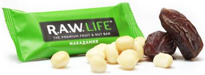 Батончик орехово-фруктовый Макадамия 47г R.A.W Life