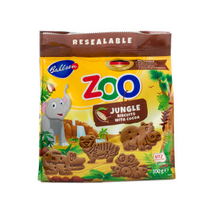 Печенье детское с какао Зоо джунгли 100г Лейбниц