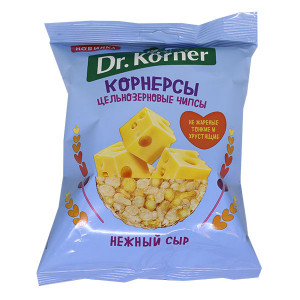 Чипсы кукурузно-рисовые с сыром 50г DR.KORNER