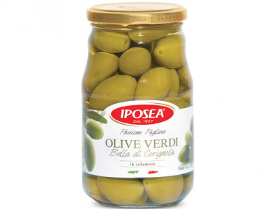 Оливки целые 314мл Ipocea