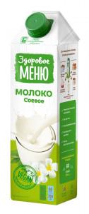 Молоко соевое 1л Здоровое меню