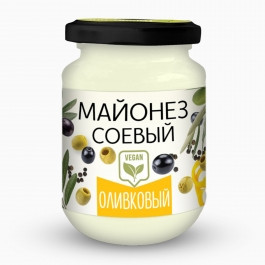 Майонез соевый Оливковый ст/б 370мл Вега Крым