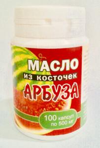 Масло семян арбуза в жел.капсулах 100шт 500мг Спецмореподукты