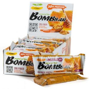 Батончик протеиновый Грецкий орех с медом 60г Bombbar