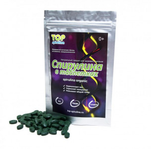 Спирулина натуральная в таблетках 100г Top Spirulina