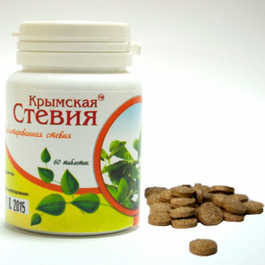 Таблетированная стевия № 60 по 0,4 гр Крымская Стевия