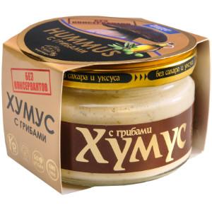 Хумус без консервантов с грибами ст/б 200г  AmFood