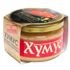 Хумус без консервантов с вялеными томатами и прованскими травами ст/б 200г  AmFood