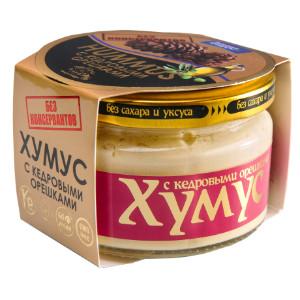 Хумус без консервантов с кедровыми орешками ст/б 200г Полезные продукты