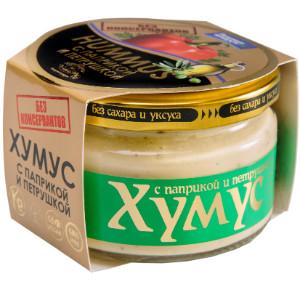 Хумус без консервантов с паприкой и петрушкой ст/б 200г  AmFood