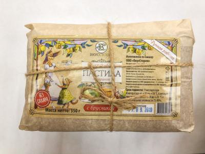 Белёвская пастила с брусникой (без сахара) пергамент 350г ВкусСтория