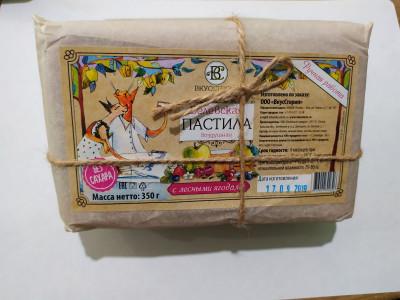 Белёвская пастила с лесными ягодами (без сахара) пергамент 350г ВкусСтория