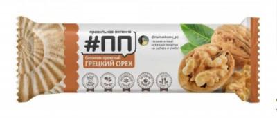 Батончик ореховый Грецкий орех 40г #ПП