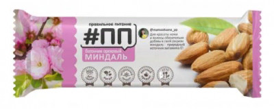 Батончик ореховый Миндаль 40г #ПП