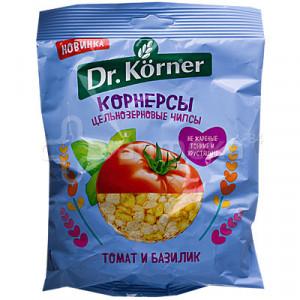 Чипсы кукурузно-рисовые томат-базилик 50г DR.KОRNER
