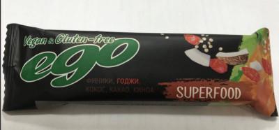 Батончик фруктово-ореховый Годжи 45г Ego Superfood