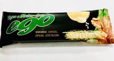 Батончик фруктово-ореховый Киноа 45г Ego Superfood