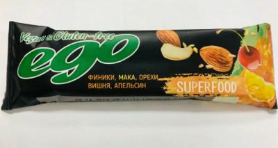 Батончик фруктово-ореховый Мака 45г Ego Superfood