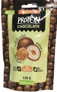 Драже протеиновое Фундук в шоколаде 120г CHIKALAB