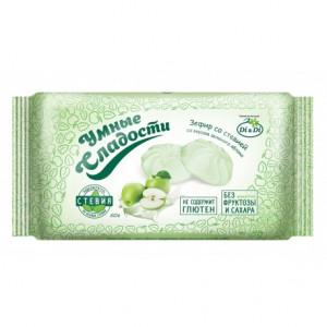 Зефир Зеленое яблоко со стевией 50г Умные сладости
