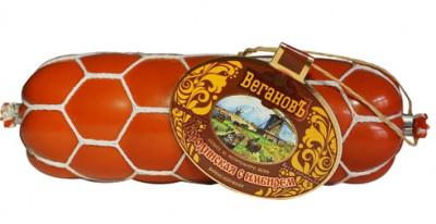 Колбаса варено-копченая Бородинская с имбирем 400г Вегановъ