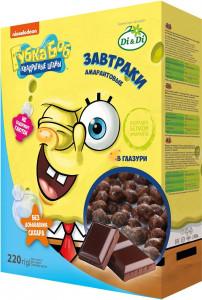 Завтраки амарантовые Губка Боб в глазури витаминизированные 220г Di&Di