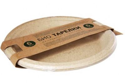 Набор Био тарелки из сахарного тростника 6 шт GEOVITA