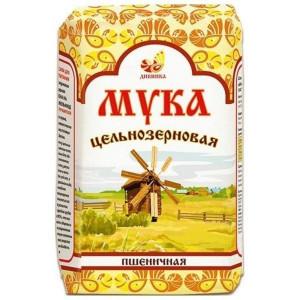 Мука пшеничная цельнозерновая 1кг Дивинка