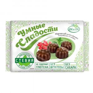 Мармелад диетический в шоколадной глазури 220г Умные Сладости