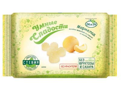 Мармелад со стевией со вкусом дыни 200г Умные сладости