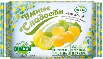 Мармелад со стевией со вкусом лимона 200г Умные сладости
