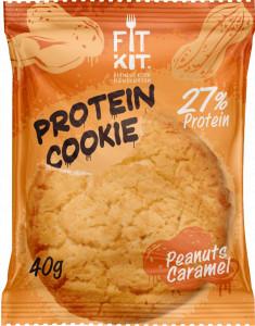 Печенье протеиновое Арахис-карамель 40г FitKit