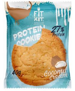 Печенье протеиновое Кокосовый крем 40г FitKit