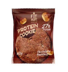Печенье протеиновое Шоколад фундук 40г FitKit
